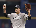 Masahiro Tanaka (Yankees),<br /> APRIL 18, 2015 - MLB :<br /> Pitcher Masahiro Tanaka of the New York Yankees during the Major League Baseball game against the Tampa Bay Rays at Tropicana Field in St. Petersburg, Florida, United States. (Photo by AFLO)