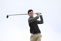 Ross Latimer (Knock) on the 16th tee during Round 2 of The East of Ireland Amateur Open Championship in Co. Louth Golf Club, Baltray on Sunday 2nd June 2019.<br /> <br /> Picture:  Thos Caffrey / www.golffile.ie<br /> <br /> All photos usage must carry mandatory copyright credit (© Golffile   Thos Caffrey)