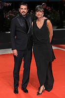 "VENICE, ITALY - SEPTEMBER 07: Claes Bang and Liz Louis-Jensen walk the red carpet ahead of the ""The Burnt Orange Heresy"" during the 76th Venice Film Festival at Sala Grande on September 07, 2019 in Venice, Italy. (Photo by Mark Cape/Insidefoto)<br /> Venezia 07/09/2019"