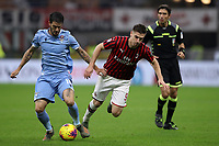 Luis Alberto of Lazio tangles with Krzysztof Piatek of AC Milan during the Serie A match at Giuseppe Meazza, Milan. Picture date: 3rd November 2019. Picture credit should read: Jonathan Moscrop/Sportimage PUBLICATIONxNOTxINxUK SPI-0299-0033<br /> Milano 03-11-2019 Stadio San Siro <br /> Football Serie A 2019/2020 <br /> AC Milan - SS Lazio <br /> Photo Jonathan Moscrop / Sportimage / Imago  / Insidefoto <br /> ITALY ONLY