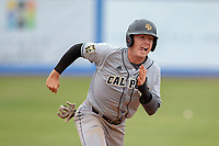 Cal Poly San Luis Obispo Mustangs Nick Meyer (26) in action against the UC-Riverside Highlanders at Riverside Sports Complex on May 26, 2018 in Riverside, California. The Cal Poly SLO Mustangs defeated the UC Riverside Highlanders 6-5. (Donn Parris/Four Seam Images)
