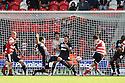Chris Brown of Doncaster scores. Doncaster Rovers v Stevenage - npower League 1 -  Keepmoat Stadium, Doncaster - 22nd September, 2012. © Kevin Coleman 2012.