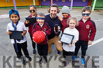 Students in Moyderwell NS launch the April Cool Day on Friday in the school, and no mobiles, tablets or whiteboard will be used during the month of April.<br /> Front l to r: Shovik Reza and Jack O'Callaghan, Clodagh Costello and Darren Brosnan<br /> Back l to r: Choezin Tenzin Dorjee, Mr Holly (Teacher) and Matthew Emmanuel.
