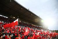Fans showing their support. 2017 Rugby League World Cup Semi Final, England v Tonga at Mt Smart Stadium, Auckland, New Zealand. 25 November 2017 © Copyright Photo: Anthony Au-Yeung / www.photosport.nz MANDATORY BYLINE/CREDIT : Andrew Cornaga/SWpix.com/PhotosportNZ