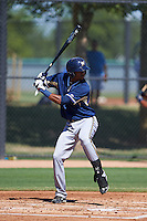Milwaukee Brewers Jose Cuas (1) during an instructional league game against the Los Angeles Dodgers on October 13, 2015 at Cameblack Ranch in Glendale, Arizona.  (Mike Janes/Four Seam Images)