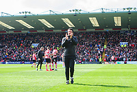 Lincoln City manager Danny Cowley applauds the fans prior to the game<br /> <br /> Photographer Chris Vaughan/CameraSport<br /> <br /> The EFL Sky Bet League Two - Lincoln City v Cheltenham Town - Saturday 13th April 2019 - Sincil Bank - Lincoln<br /> <br /> World Copyright © 2019 CameraSport. All rights reserved. 43 Linden Ave. Countesthorpe. Leicester. England. LE8 5PG - Tel: +44 (0) 116 277 4147 - admin@camerasport.com - www.camerasport.com