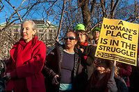 New York, USA 8 March 2017 - Women marked International Women's Day - A Day Without a Woman, with a rally in Washington Square Park followed by a march. Many women wore red and took the day off as a general strike. ©Stacy Walsh Rosenstock/Alamy Live News