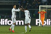Cristiano Ronaldo Juventus celebrates with Alex Sandro after scoring draw 2-2 <br /> Bergamo 26-12-2018  Stadio Atleti Azzurri d'Italia <br /> Football Campionato Serie A 2018/2019 <br /> Atalanta - Juventus<br /> Foto Cesare Purini / Insidefoto