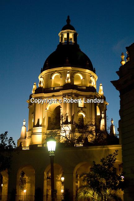 Pasadena City Hall at night