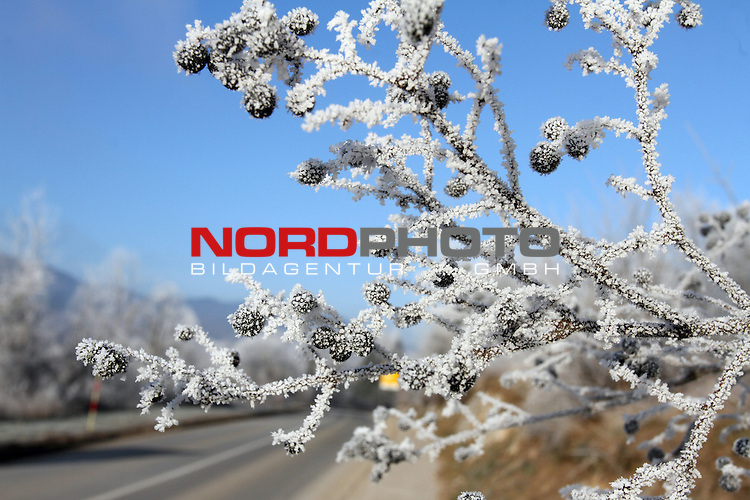 18.12.2013., Vrbovsko, Croatia - Due to the low temperatures of a few degrees below zero, the area of Gorski Kotar covered in frost.<br /> <br /> Foto &not;&copy;  nordphoto / PIXSELL / Goran Kovacic