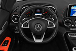 Car pictures of steering wheel view of a 2018 Mercedes Benz AMG GT base 2 Door Roadster