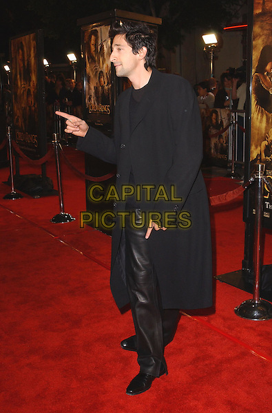 ADRIEN BRODY.The Lord of The Rings:The Return of The King L.A. Premiere held at The Mann Village Theatre.                  03/12/2003.full length, full-length, pointing.www.capitalpictures.com.sales@capitalpictures.com.©Capital Pictures.