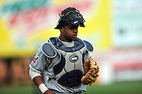 July 15, 2009:  Catcher Carlos Santana of the Akron Aeros during the 2009 Eastern League All-Star game at Mercer County Waterfront Park in Trenton, NJ.  Photo By David Schofield/Four Seam Images