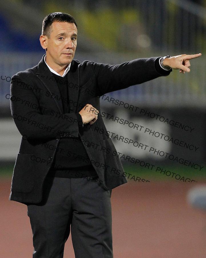 Fudbal Super liga season 2013-2014<br /> Partizan v OFK Beograd<br /> Head coach Vuk Rasovic<br /> Beograd, 21.09.2013.<br /> foto: Srdjan Stevanovic/Starsportphoto &copy;