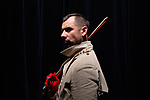 L'HISTOIRE DU SOLDAT<br /> <br /> chor&eacute;graphie, sc&eacute;nographie &amp; costumes LIONEL HOCHE<br /> <br /> musique IGOR STRAVINSKY livret CHARLES-FERDINAND RAMUZ<br /> r&eacute;citant LIONEL HOCHE<br /> le soldat VINCENT DELETANG<br /> le diable EMILIO URBINA<br /> la princesse ANNE-CLAIRE GONNARD<br /> <br /> vid&eacute;o SIMON FREZEL<br /> r&eacute;gie vid&eacute;o AUGUSTE DIAZ<br /> lumi&egrave;re &amp; r&eacute;gie g&eacute;n&eacute;rale NICOLAS PROSPER<br /> musique ORCHESTRE-ATELIER OSTINATO<br /> chef d'orchestre OLIVIER DESJOURS<br /> Compagnie : M&eacute;m&eacute; Banjo<br /> Date : 10/01/2019<br /> Lieu : Th&eacute;&acirc;tre de Vanves<br /> Ville : Vanves