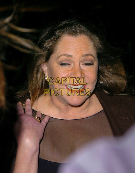 KATHLEEN TURNER.The Laurence Olivier Awards at the London Hilton, Park Lane, London, UK..February 26th, 2006.Ref: CAN.headshot portrait funny face.www.capitalpictures.com.sales@capitalpictures.com.©Capital Pictures