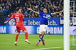 11.12.2018, VELTINS Arena, Gelsenkirchen, Deutschland, GER, UEFA Champions League, Gruppenphase, Gruppe D, FC Schalke 04 vs. FC Lokomotiv Moskva / Moskau<br /> <br /> DFL REGULATIONS PROHIBIT ANY USE OF PHOTOGRAPHS AS IMAGE SEQUENCES AND/OR QUASI-VIDEO.<br /> <br /> im Bild Zweikampf zwischen Maciej Rybus (#31 Moskau) und Naldo (#29 Schalke)<br /> <br /> Foto © nordphoto / Kurth