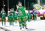 Stockholm 2014-12-02 Bandy Elitserien Hammarby IF - IFK V&auml;nersborg :  <br /> Hammarbys Adam Gilljam tackar publiken efter matchen mellan Hammarby IF och IFK V&auml;nersborg <br /> (Foto: Kenta J&ouml;nsson) Nyckelord:  Elitserien Bandy Zinkensdamms IP Zinkensdamm Zinken Hammarby Bajen HIF IFK V&auml;nersborg jubel gl&auml;dje lycka glad happy glad gl&auml;dje lycka leende ler le