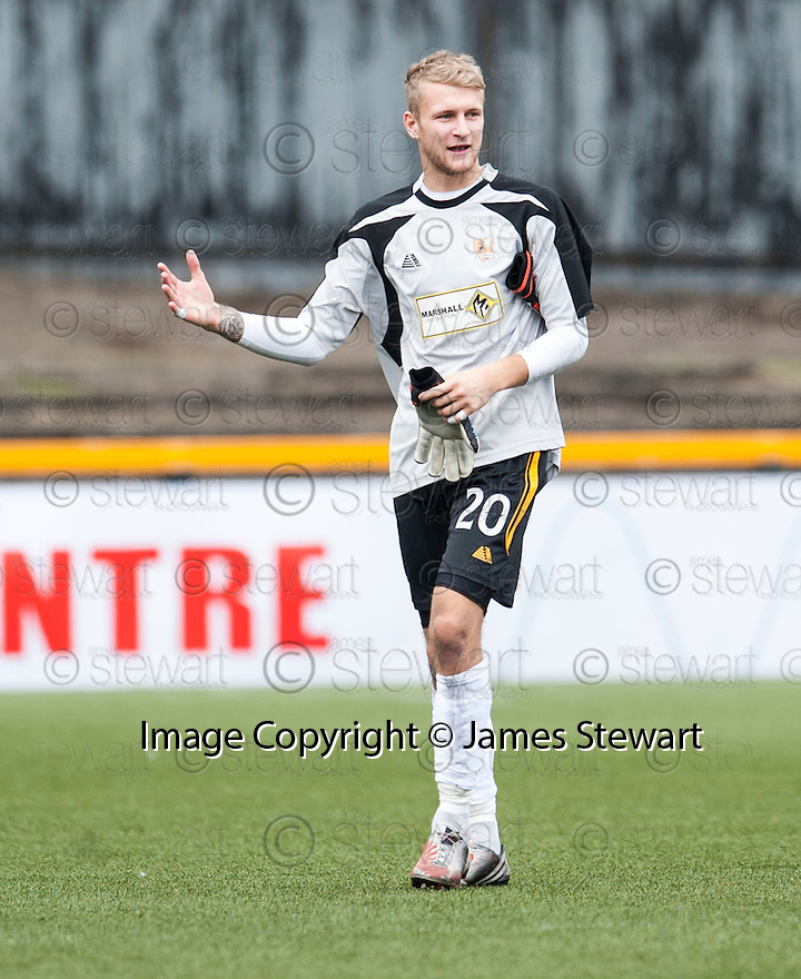 Alloa Manager keeper Scott Bain at the end of the game.
