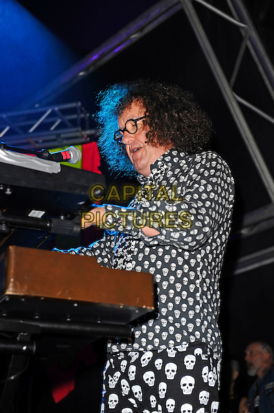 BLACKPOOL, ENGLAND - AUGUST 6: Monty Oxymoron of 'The Damned' performing at Rebellion Festival, Tower St Arena on August 6, 2016 in Blackpool, England.<br /> CAP/MAR<br /> &copy;MAR/Capital Pictures