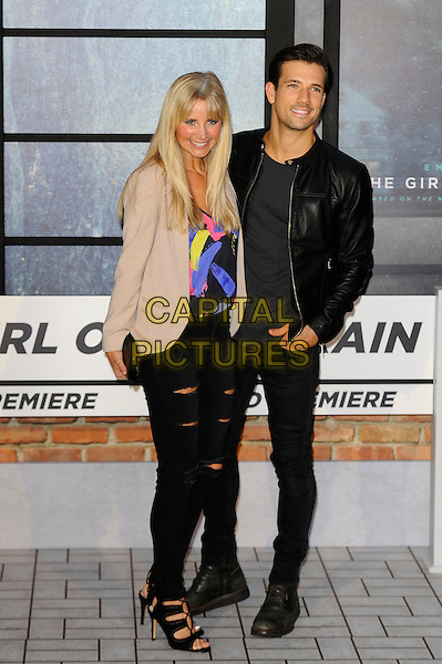 LONDON, ENGLAND - SEPTEMBER 20: Carley Stenson and Danny Mac attending 'The Girl On The Train' World Premiere at Odeon Cinema, Leicester Square on September 20, 2016 in London, England.<br /> CAP/MAR<br /> &copy;MAR/Capital Pictures
