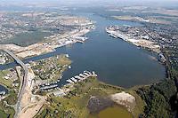 Deutschland, Schleswig- Holstein, Luebeck, Trave, Hafen