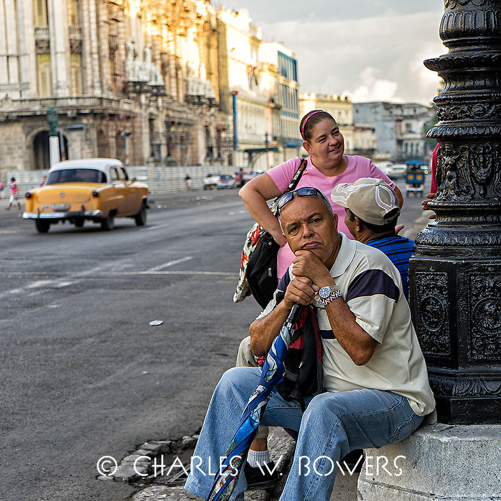 Faces Of Cuba - Waiting for the bus, just relaxing.<br />