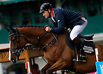 Britain's jockey Robert Smith with the horse Voila during 102 International Show Jumping Horse Riding, Gran Prix of Madrid-Volvo Throphy.May, 19, 2012. (ALTERPHOTOS/Acero)