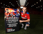 Gregg Wylde promoting the Rangers v Liverpool match