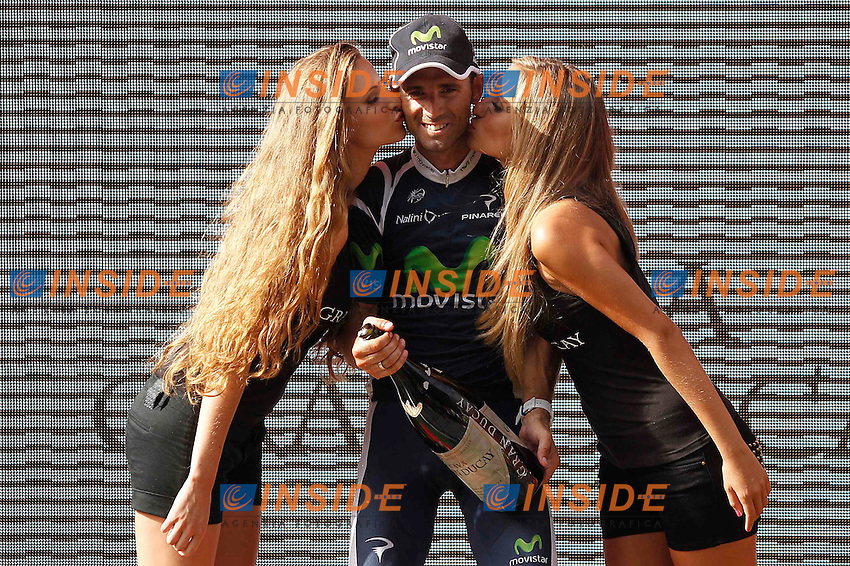 Alejandro Valverde celebrates the victory  in the stage of La Vuelta 2012 between Faustino V and Eibar (Arrate).August 20,2012. (ALTERPHOTOS/Acero) .20/8/2012 Ciclismo - Vuelta.Foto Insidefoto