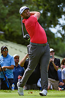 Jon Rahm (ESP) watches his tee shot on 4 during Rd4 of the 2019 BMW Championship, Medinah Golf Club, Chicago, Illinois, USA. 8/18/2019.<br /> Picture Ken Murray / Golffile.ie<br /> <br /> All photo usage must carry mandatory copyright credit (© Golffile | Ken Murray)