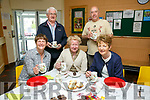 At the Coffee Morning in aid of Kerry Alzeimhers in  St. Brendan's Pastoral Centre on Thursday were front l-r Geraldine Reen, Liz Scanlon, Margaret Culloty, Back l-r Bernie O'Connor and Ian Reilly