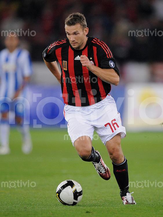 Fussball  UEFA Cup  1. Runde   2008/2009   18.09.2008 AC Mailand - FC Zuerich Andriy Shevchenko (Mailand) am Ball
