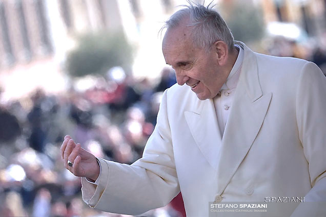 Pope Francis special Jubilee Audience at Saint Peter's Square at the Vatican on March 12, 2016.