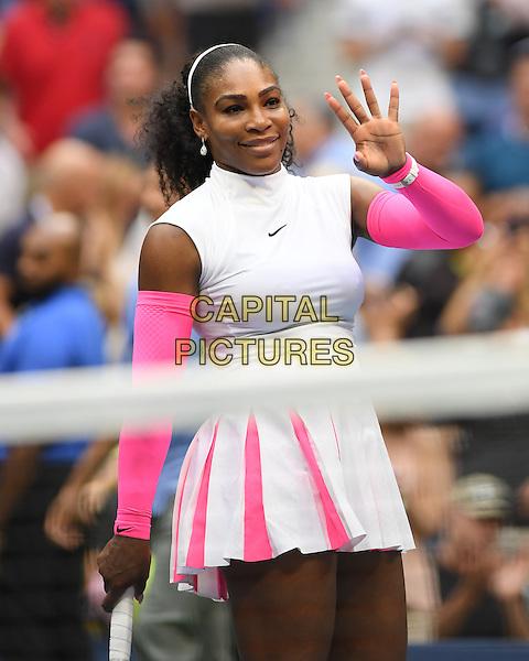 FLUSHING NY- SEPTEMBER 05: Serena Williams reaches 308th Grand Slam win against Vs Yaroslavl Shvedova on Arthur Ashe Stadium at the USTA Billie Jean King National Tennis Center on September 5, 2016 in Flushing Queens. <br /> CAP/MPI04<br /> &copy;MPI04/Capital Pictures