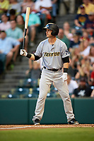 Trenton Thunder second baseman Bruce Caldwell (12) at bat during a game against the Richmond Flying Squirrels on May 11, 2018 at The Diamond in Richmond, Virginia.  Richmond defeated Trenton 6-1.  (Mike Janes/Four Seam Images)