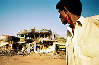 Ahmadabad, India, March 2002.A mosq, burned down by a Hindu mob in the Naroda outskirt of Ahmadabad, Gujarat's capital city.