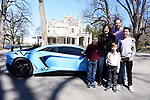 A Pre-Bar Mitzvah Portrait Shoot With An Orange McLaren and Blue Lamborghini At Lyndhurst Castle In Tarrytown, New York.