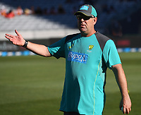 Coach of Australia Darren Lehmann.<br /> New Zealand Black Caps v Australia.Tri-Series International Twenty20 cricket. Eden Park, Auckland, New Zealand. Friday 16 February 2018. &copy; Copyright Photo: Andrew Cornaga / www.Photosport.nz