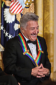 Actor Dustin Hoffman attends the Kennedy Center Honors reception at the White House on December 2, 2012 in Washington, DC. The Kennedy Center Honors recognized seven individuals - Buddy Guy, Dustin Hoffman, David Letterman, Natalia Makarova, John Paul Jones, Jimmy Page, and Robert Plant - for their lifetime contributions to American culture through the performing arts. .Credit: Brendan Hoffman / Pool via CNP