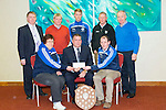 Templenoe GAA given a cheque from Chapter 21 Credit Union presented by Kerry County GAA board,  chairman Patrick O'Sullivan at the Manor West Hotel on Thursday Pictured front l- Phil Harrington, Patrick O'Sullivan, Tim Clifford, Back l-r Donal Cremmin (Rathmore credit union),Dermot Lynch,Gavin Crowley, Padraig Dineen, D O'Daly (Listowel credit union)