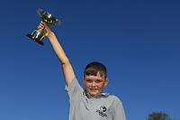 Aodhagan Brady (Co.Sligo) winner of the U14's Final during the Connacht U12, U14, U16, U18 Close Finals 2019 in Mountbellew Golf Club, Mountbellew, Co. Galway on Monday 12th August 2019.<br /> <br /> Picture:  Thos Caffrey / www.golffile.ie<br /> <br /> All photos usage must carry mandatory copyright credit (© Golffile | Thos Caffrey)