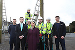 BT Wales Apprentices.<br /> Cross Hands ATE<br /> L-R: Apprentices Richard Samuel, Sam Jenkins, Ben Howe, Nathan Brooks, Lewis Evans and Charlie Winch with Deputy Minister for Skills and Technology Ken Skates and Ann Beynon BT Wales Director.<br /> <br /> 03.03.14<br /> <br /> &copy;Steve Pope-FOTOWALES
