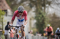 Mathieu Van Der Poel (NED/Correndon-Circus) up the Kruisberg<br /> <br /> 103rd Ronde van Vlaanderen 2019<br /> One day race from Antwerp to Oudenaarde (BEL/270km)<br /> <br /> ©kramon