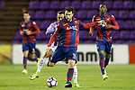 Real Valladolid's Raul de Tomas (l) and Levante UD's Victor Casadesus during La Liga Second Division match. March 11,2017. (ALTERPHOTOS/Acero)