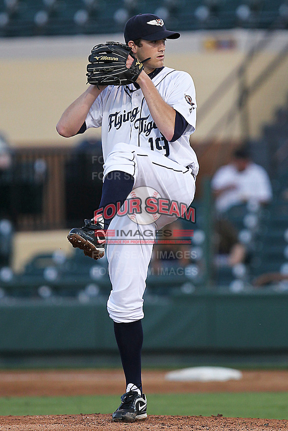 April 9, 2010 Mark Sorensen of the Lakeland Tigers, Florida State League Single-A affiliate of the Detroit Tigers, delivers a pitch during a game at Joker Marchant Stadium in Lakeland, FL. Photo by: Mark LoMoglio/Four Seam Images