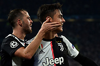 Paulo Dybala of Juventus celebrates with Miralem Pjanic after scoring the goal of 1-0 for his side on free kick <br /> Torino 26/11/2019 Juventus Stadium <br /> Football Champions League 2019//2020 <br /> Group Stage Group D <br /> Juventus - Atletico Madrid <br /> Photo Andrea Staccioli / Insidefoto