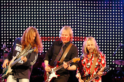 James Young  and Tommy Shaw of Styx..at Alice Cooper's Christmas Pudding show to benefit his Solid Rock Foundation for children, Dodge Theatre in Phoenix, December 17th 2005...Photo by Chris Walter/Photofeatures