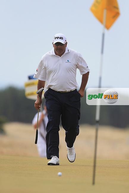 Angel CABRERA (ARG) during round 4 of  The 142th Open Championship Muirfield, Gullane, East Lothian, Scotland 21/7/2013<br /> Picture Fran Caffrey www.golffile.ie: