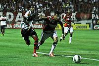 ATENÇÃO EDITOR: FOTO EMBARGADA PARA VEÍCULOS INTERNACIONAIS SÃO PAULO,SP,17 OUTUBRO 2012 - CAMPEONATO BRASILEIRO - PORTUGUESA x FLAMENGO - Luis Antonio  jogador  do Flamengo durante partida Portuguesa x Flamengo válido pela 31º rodada do Campeonato Brasileiro no Estádio Doutor Osvaldo Teixeira Duarte (Canindé), na região norte da capital paulista na noite desta quarta feira  (17).(FOTO: ALE VIANNA -BRAZIL PHOTO PRESS).